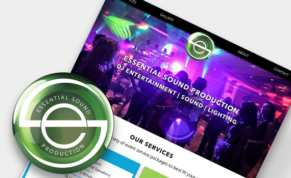 Essential Sound Production website mockup