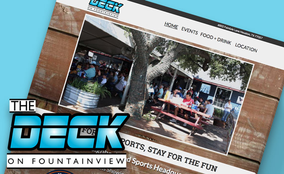 The Deck On Fountainview website mockup